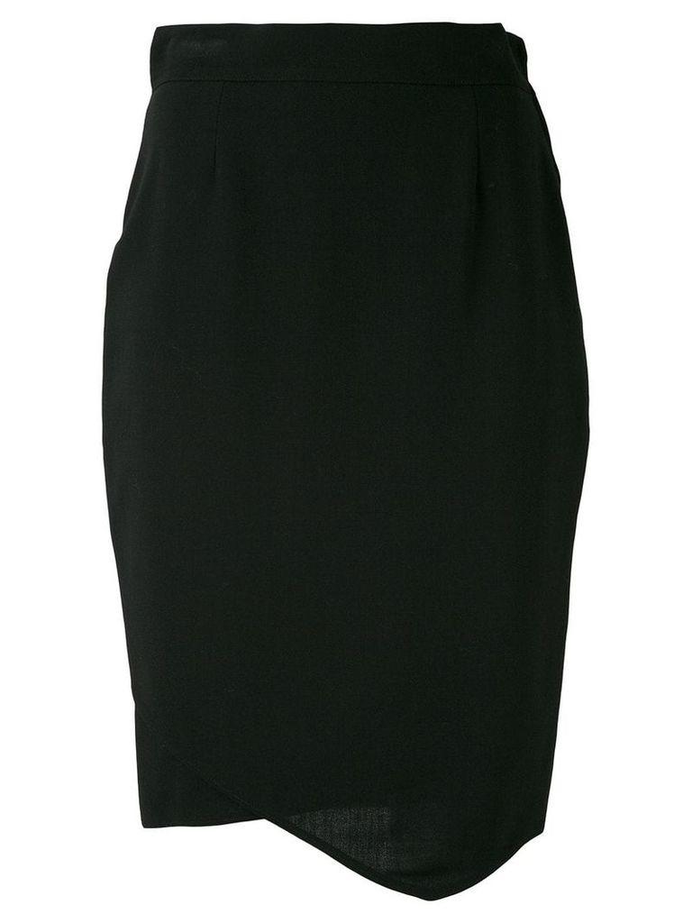 Gianfranco Ferre Vintage asymmetric 1980 skirt - Black