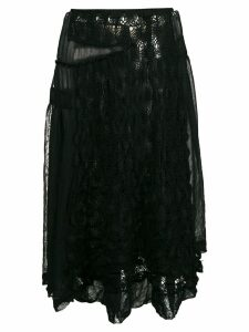Comme Des Garçons Pre-Owned embroidered lace skirt - Black