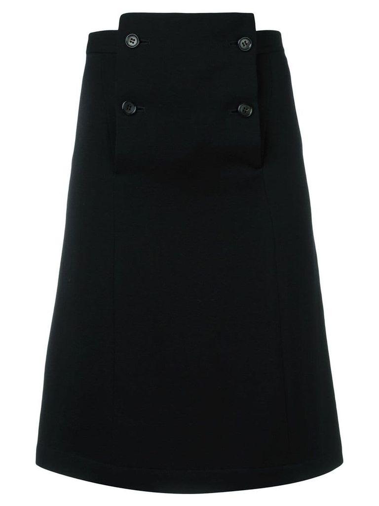 Comme Des Garçons Vintage a-line knee length skirt - Black