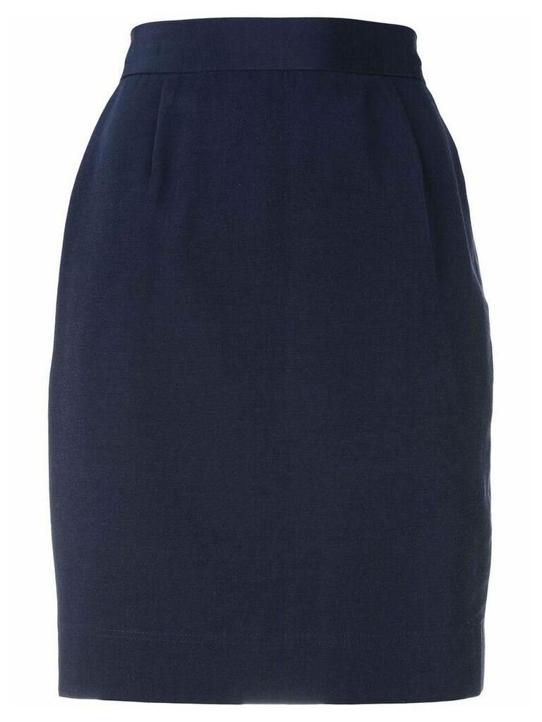 Moschino Vintage high-waisted skirt - Blue