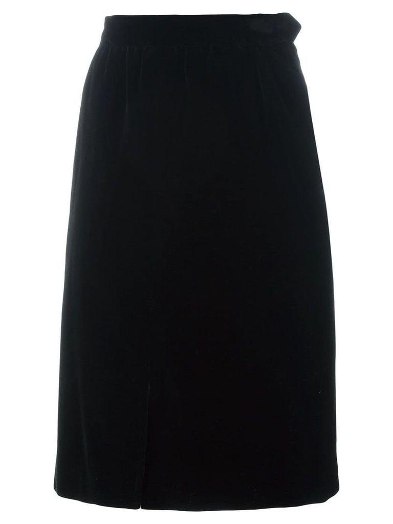 Yves Saint Laurent Vintage knee length skirt - Black