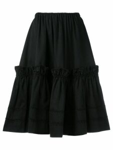 Yves Saint Laurent Pre-Owned Rive Gauche tiered skirt - Black
