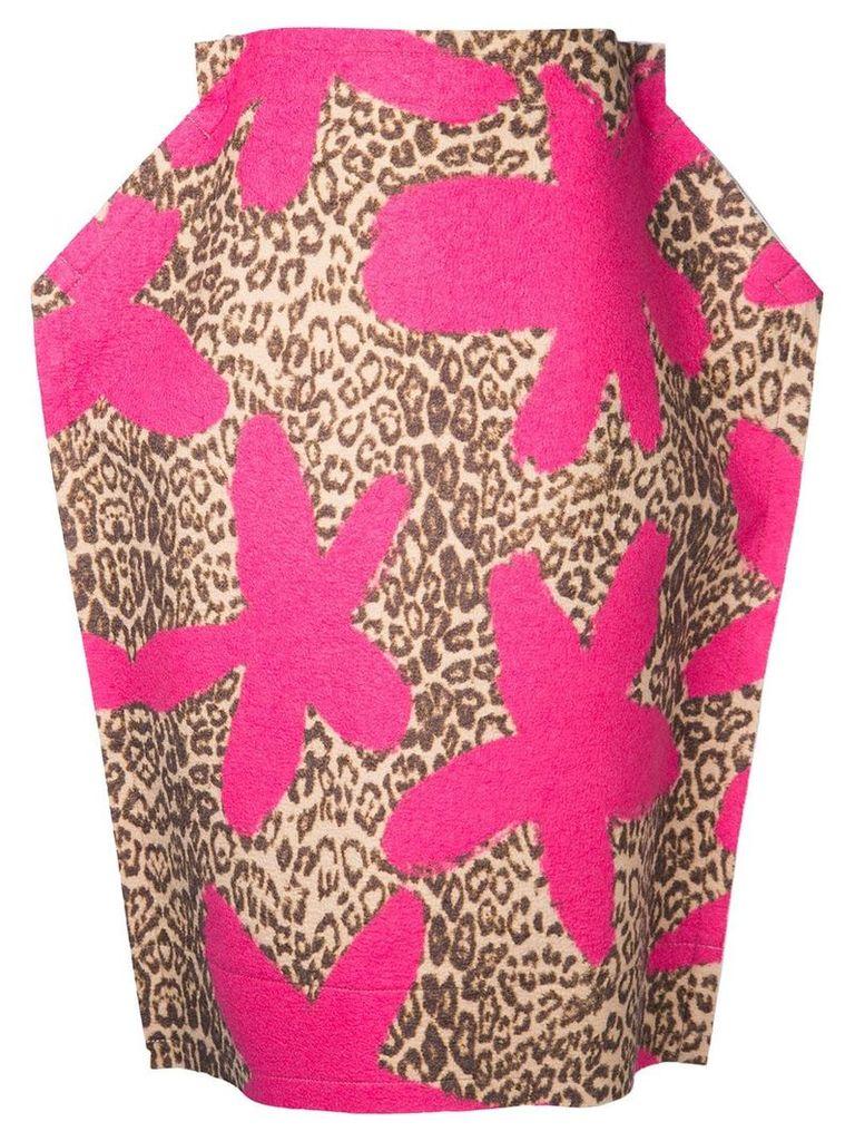 Comme Des Garçons Vintage 2D leopard skirt - Pink
