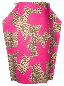 Comme Des Garçons Pre-Owned 2D leopard skirt - Pink