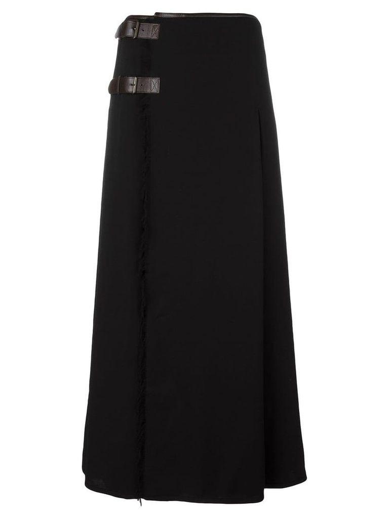 Jean Paul Gaultier Vintage frayed skirt - Black