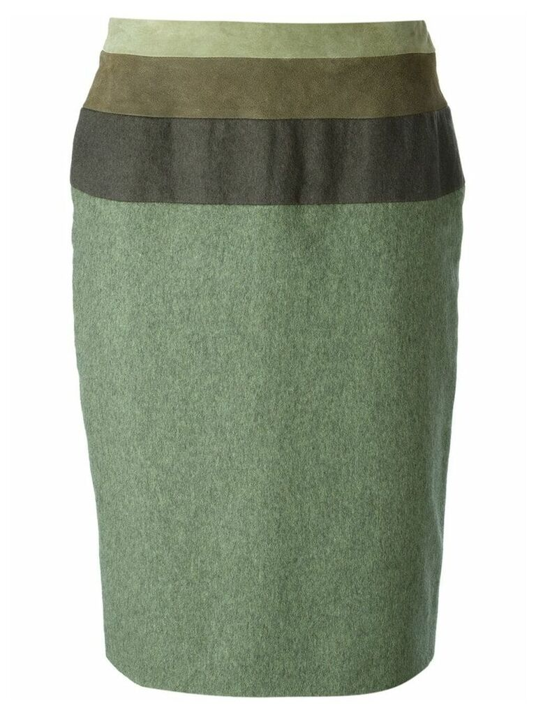 Jean Louis Scherrer Pre-Owned straight skirt - Green