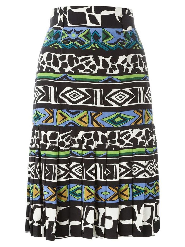 Jean Louis Scherrer Vintage printed A-line skirt - Multicolour