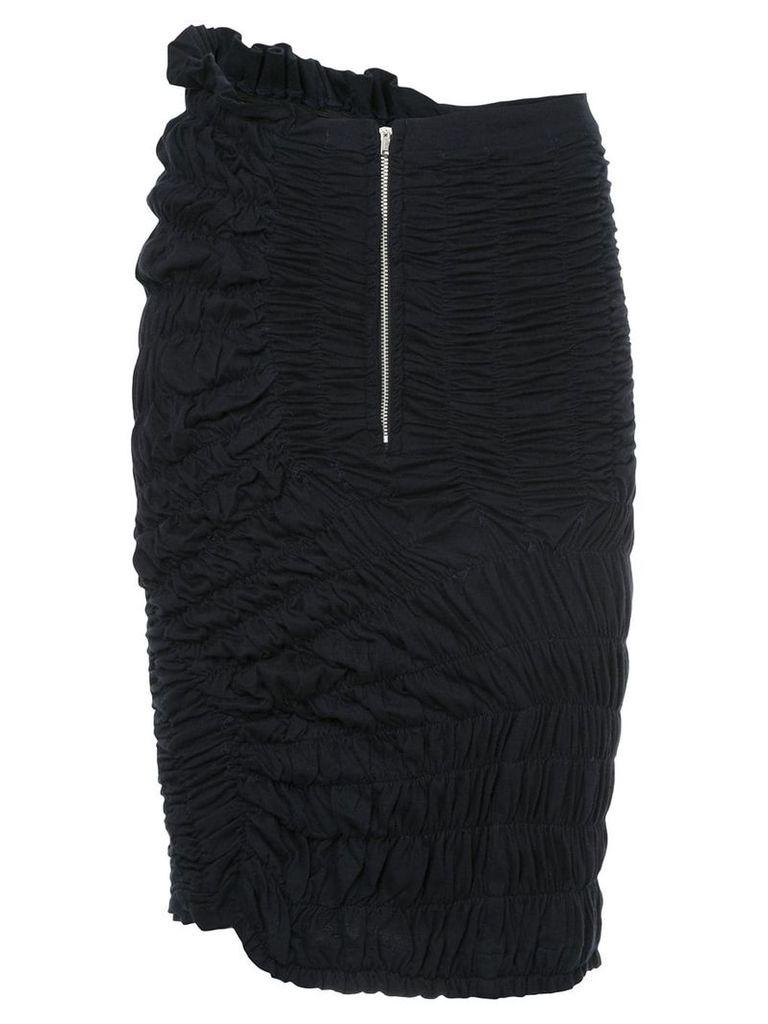 Comme Des Garçons Vintage ruched midi skirt - Blue