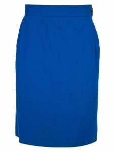 Yves Saint Laurent Pre-Owned straight fit skirt - Blue