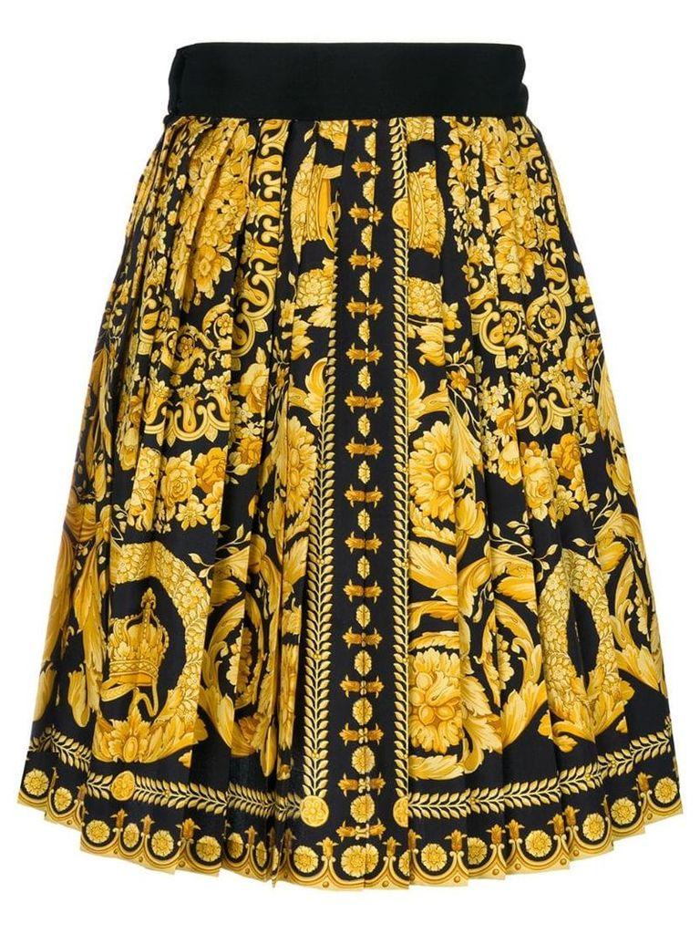 Versace Vintage baroque print skirt - Black