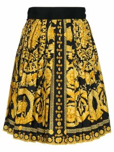 Versace Pre-Owned baroque print skirt - Black