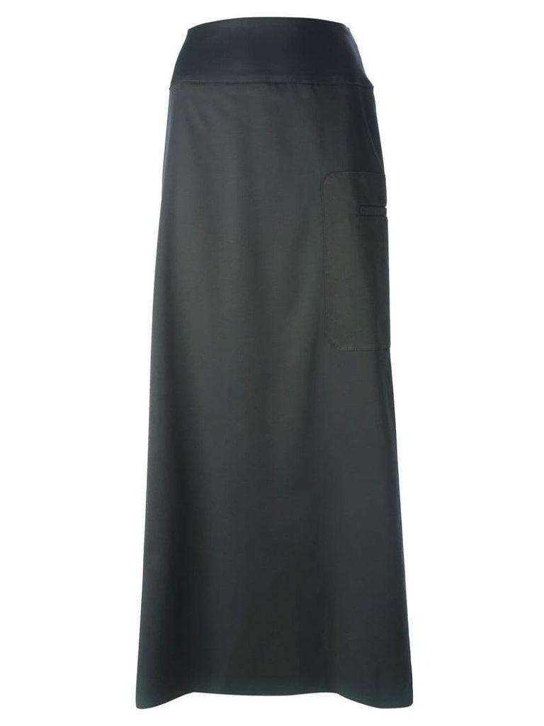 Jean Louis Scherrer Vintage side pocket maxi skirt - Grey