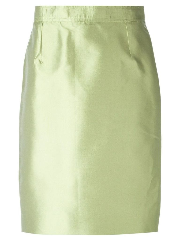 Christian Lacroix Pre-Owned classic pencil skirt - Green