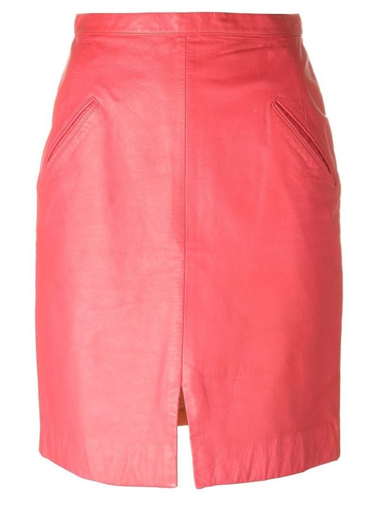 Stephen Sprouse Vintage leather skirt - Pink