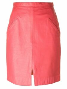 Stephen Sprouse Pre-Owned leather skirt - Pink