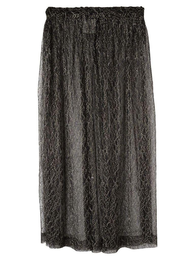 Comme Des Garçons Vintage sheer midi skirt - Black