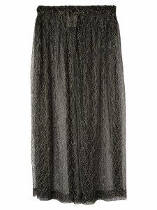 COMME DES GARÇONS PRE-OWNED sheer midi skirt - Black