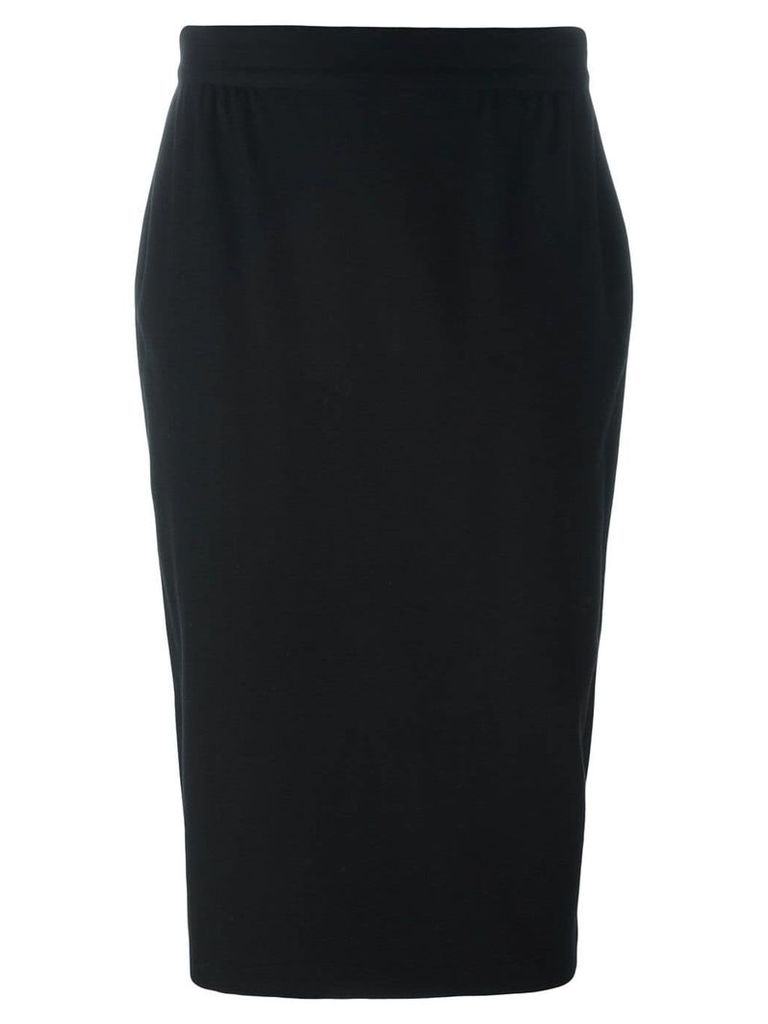 Versace Pre-Owned fitted over-the-knee skirt - Black