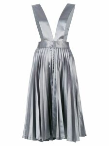 Comme Des Garçons Pre-Owned pleated metallic skirt - Grey