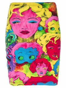 Versace Pre-Owned Betty Boop print skirt - Multicolour