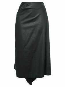 Comme Des Garçons Pre-Owned tonal pattern gathered skirt - Black