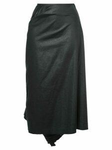 Comme Des Garçons Pre-Owned tonal pattern gathered skirt - Black