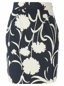 Moschino Pre-Owned floral print pencil skirt - Blue