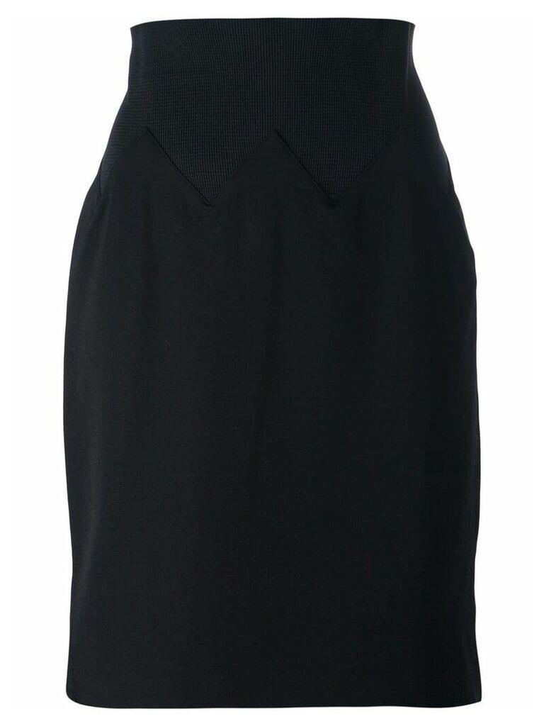 Jean Paul Gaultier Vintage knee length skirt - Black