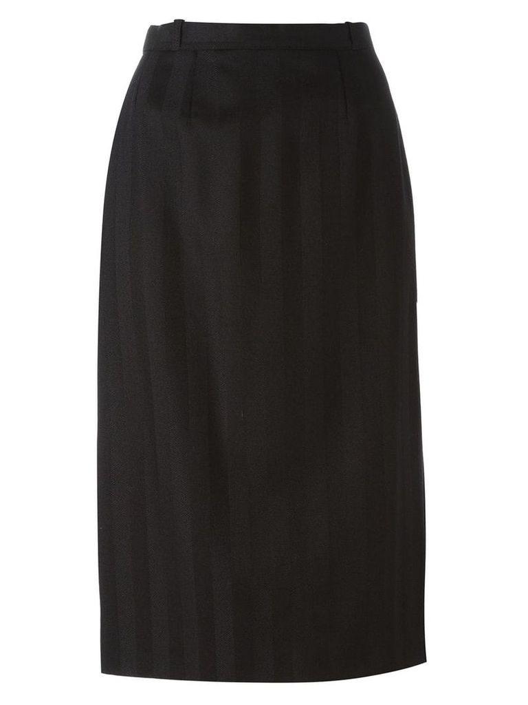 Jean Louis Scherrer Vintage sheath skirt - Black