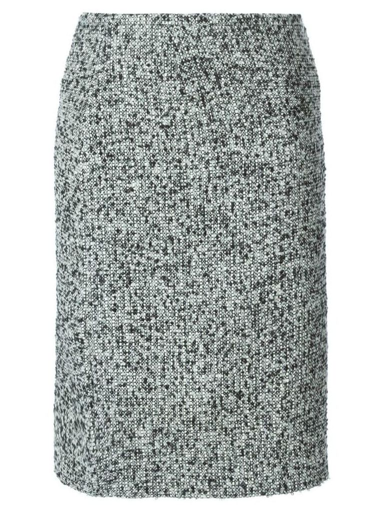 Jean Louis Scherrer Pre-Owned bouclé skirt - Black