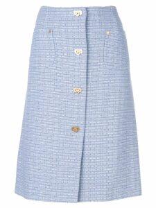 Salvatore Ferragamo Vintage a-line skirt - Blue