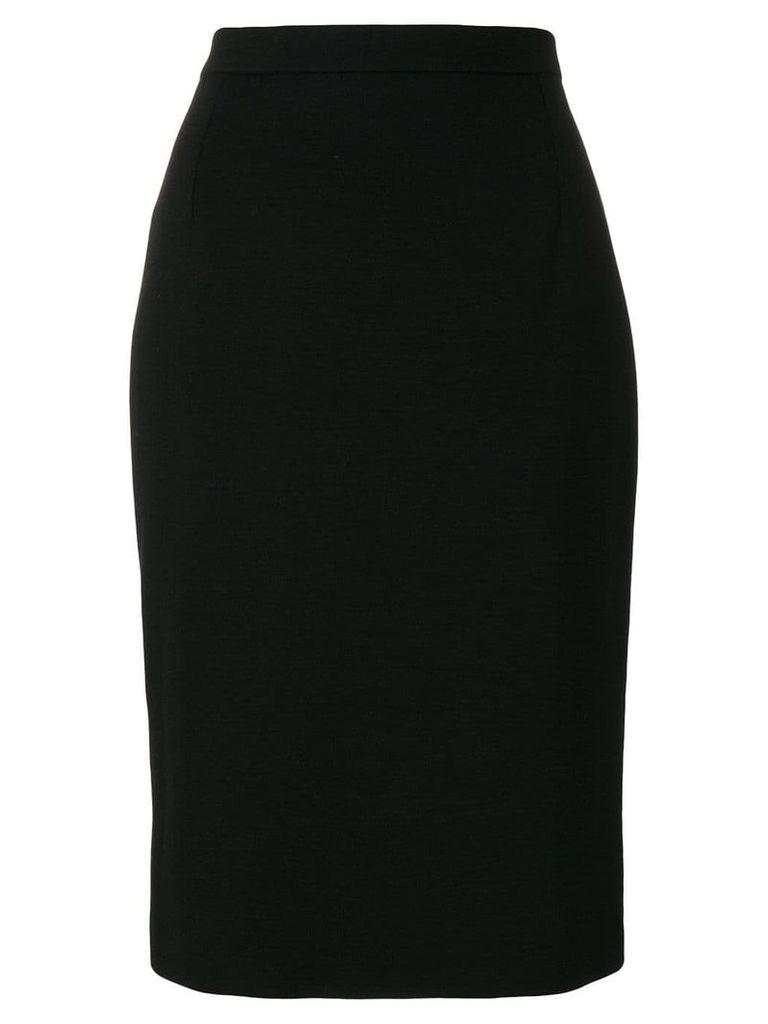 Yves Saint Laurent Vintage straight midi skirt - Black