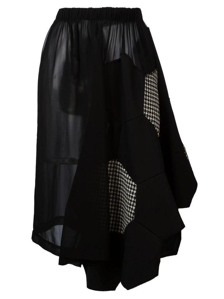 Comme Des Garçons Vintage beehive patchwork skirt - Black