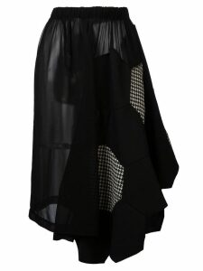 Comme Des Garçons Pre-Owned beehive patchwork skirt - Black