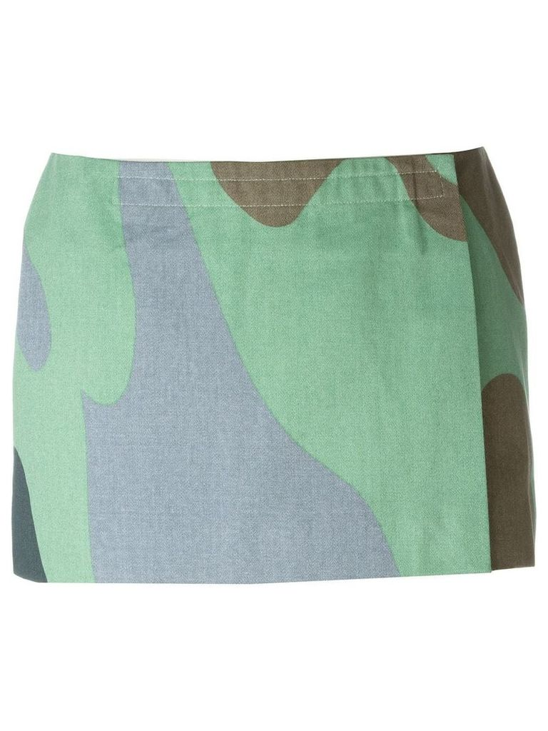 Stephen Sprouse Vintage Andy Warhol camouflage print skirt - Green