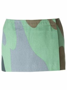 Stephen Sprouse Pre-Owned Andy Warhol camouflage print skirt - Green