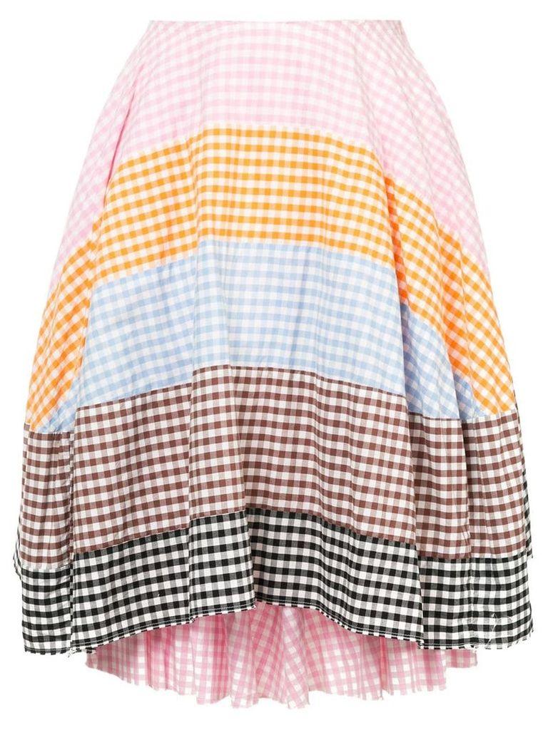 Comme Des Garçons Vintage checkered patchwork skirt - Multicolour