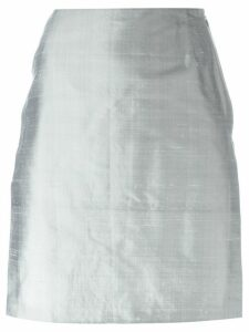 Romeo Gigli Pre-Owned side slit skirt - Grey