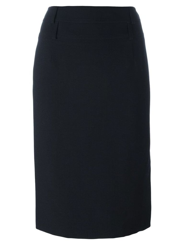 Christian Dior Pre-Owned side split skirt - Blue