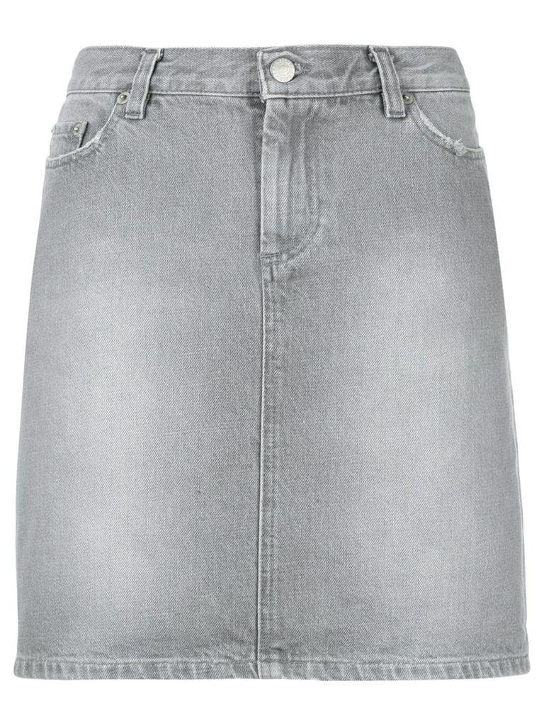 Helmut Lang Vintage short denim skirt - Grey
