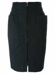 Gianfranco Ferré Pre-Owned zipped skirt - Grey