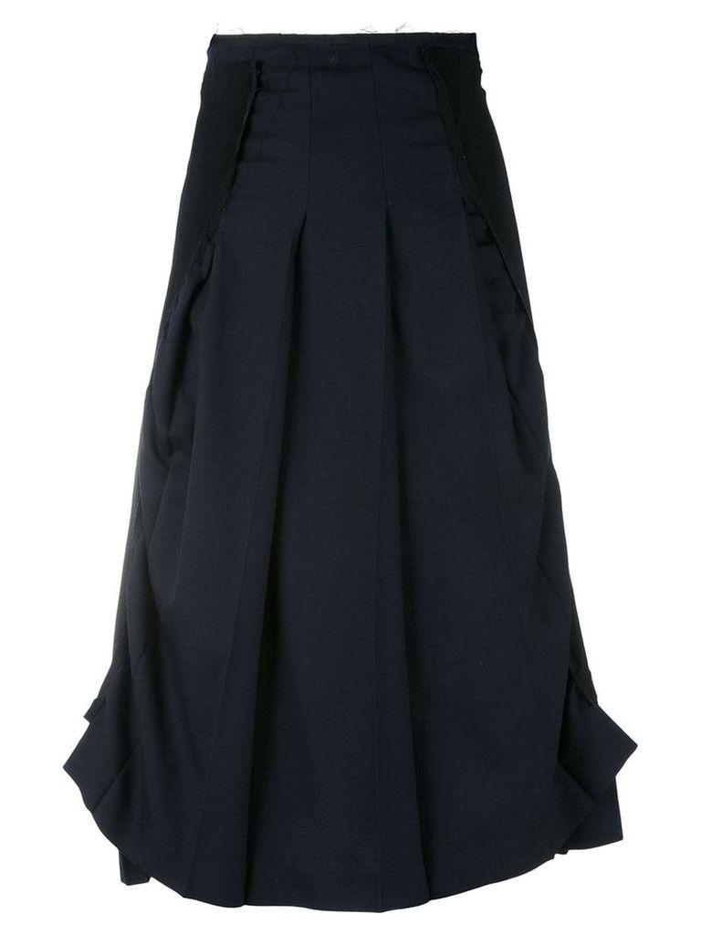 Comme Des Garçons Pre-Owned layered asymmetric skirt - Black