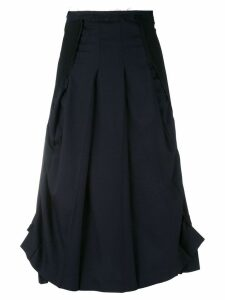 COMME DES GARÇONS PRE-OWNED layered asymmetric skirt - Black