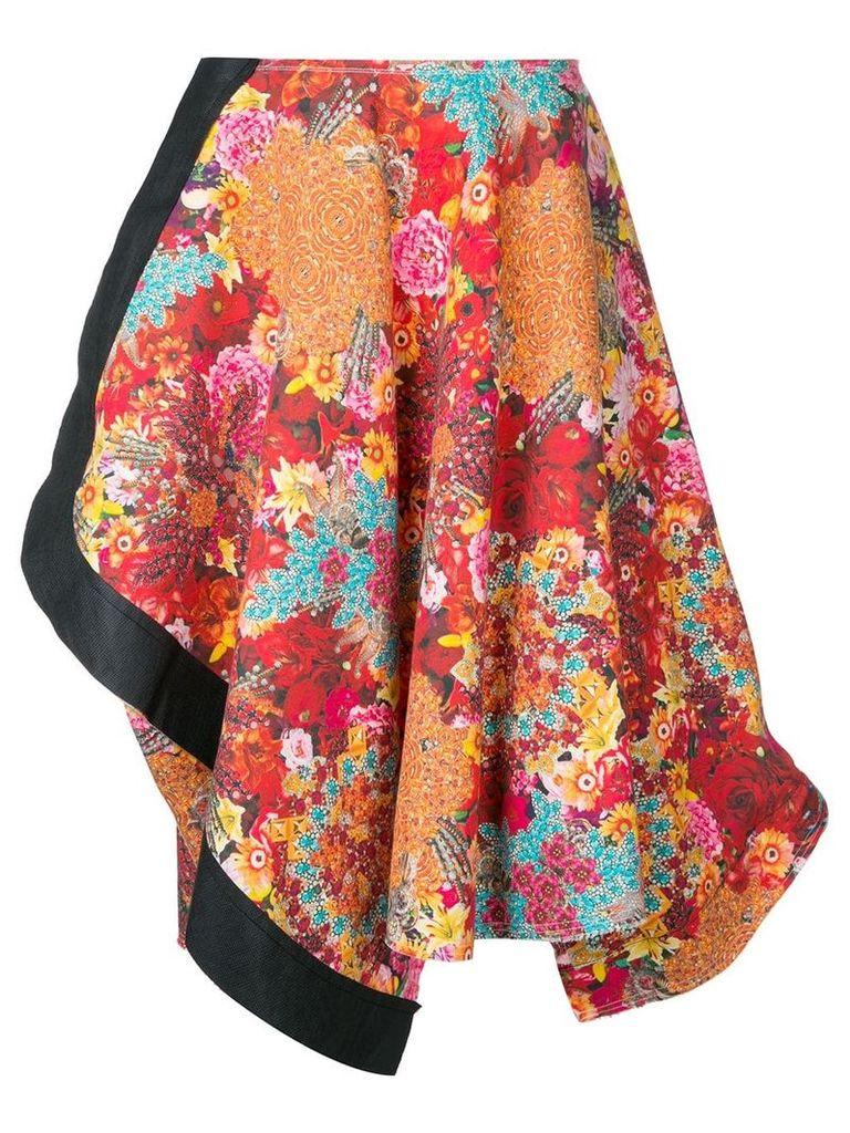 Comme Des Garçons Vintage floral print asymmetric skirt - Multicolour