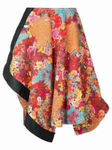 Comme Des Garçons Pre-Owned floral print asymmetric skirt -