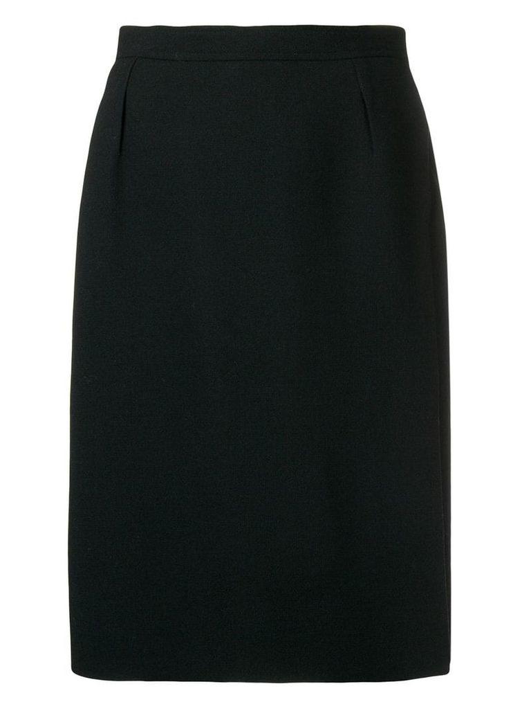 Yves Saint Laurent Pre-Owned high-waist straight skirt - Black