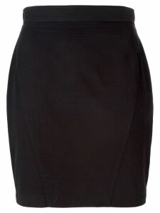 Thierry Mugler Pre-Owned high waisted mini skirt - Black