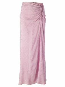Jean Louis Scherrer Pre-Owned draped drawstring skirt - Pink