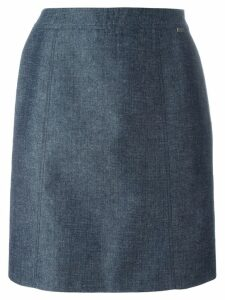 Chanel Pre-Owned classic straight skirt - Blue