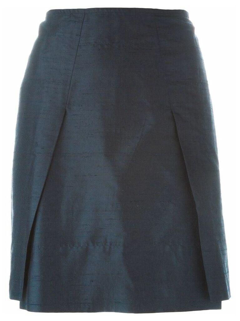 Romeo Gigli Vintage pleat detail skirt - Blue
